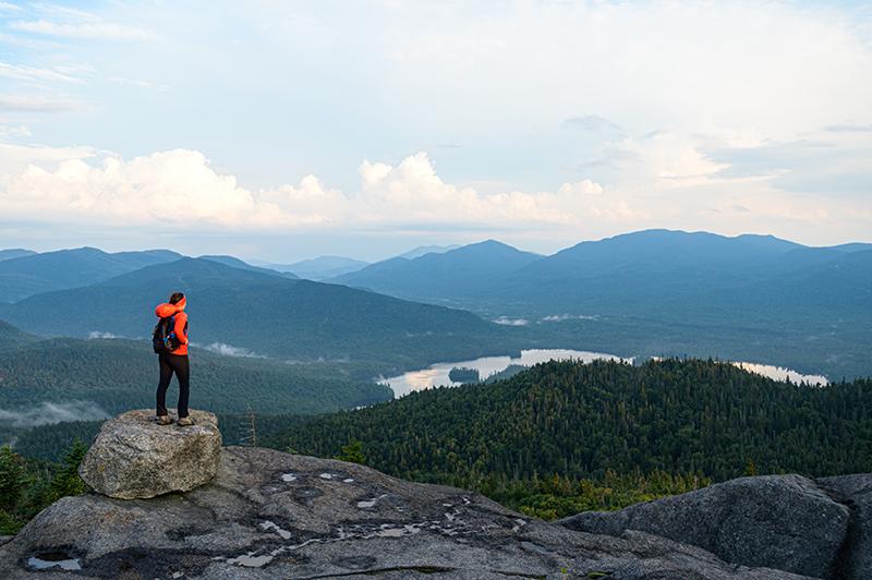 Hiking Ampersand Mountain