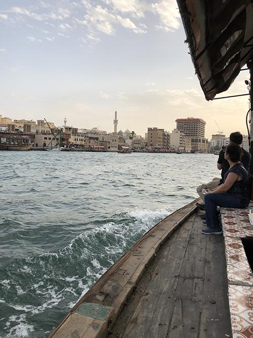 Dubai boating to markets