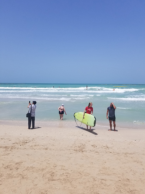Surfing in Dubai with Darley Newman