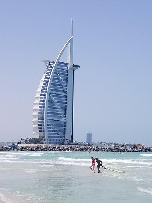 Surfing in Dubai