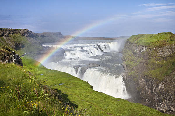 Gullfoss waterfalls in Iceland