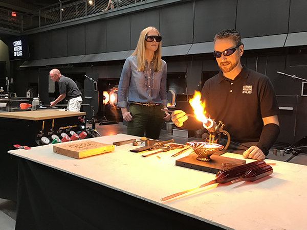 In the Hot Shop at the Corning Museum of Glass