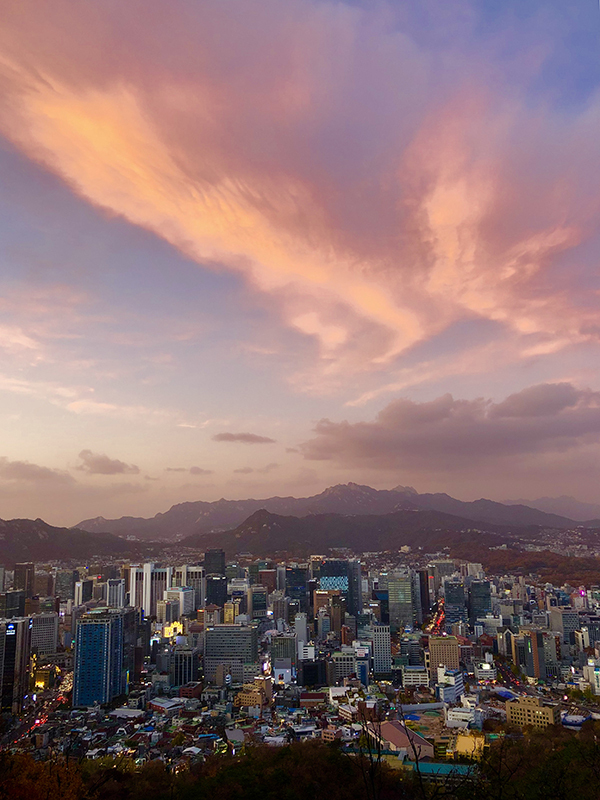 Sunset in Seoul from N-Tower