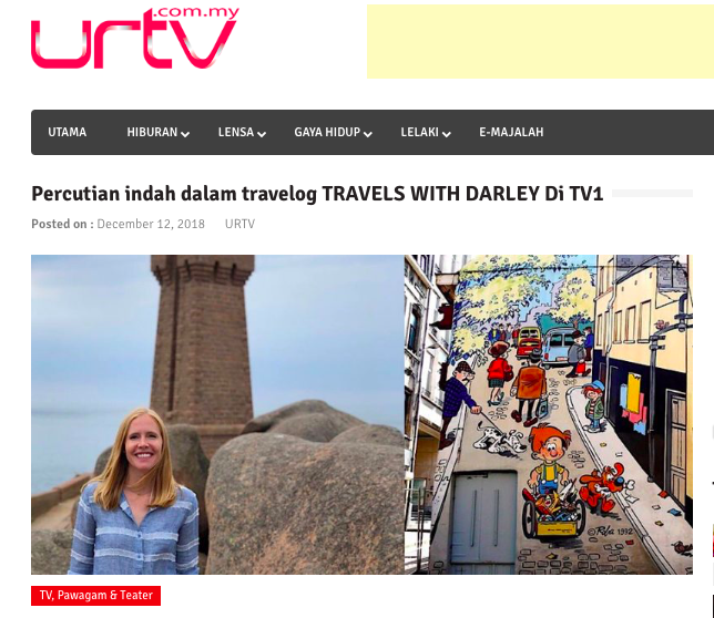 Malaysia TV broadcasts Travels with Darley