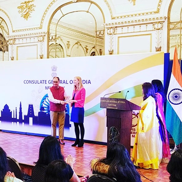 Darley Honored on International Women's Day at the Consulate General of India