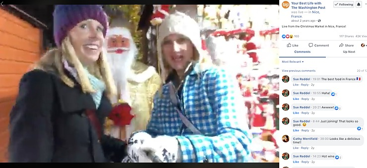 Darley Newman and Andrea Sachs live from the Nice Christmas Market in France