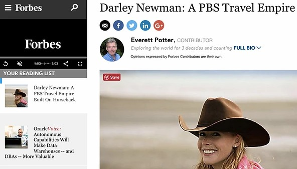 "Forbes Interview: ""Darley Newman: A PBS Travel Empire"""