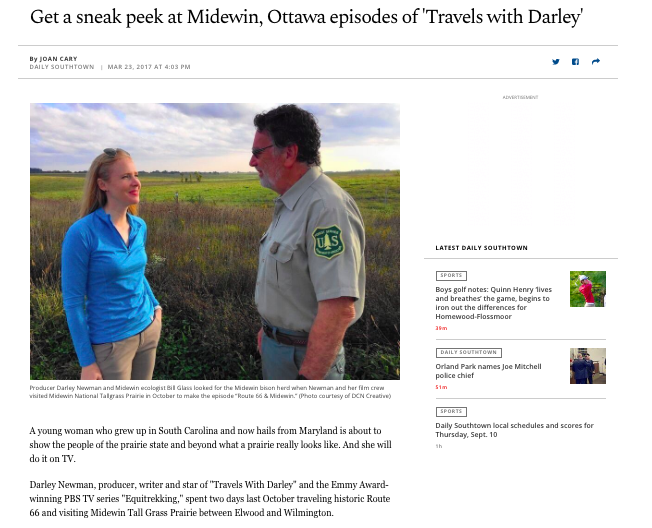 "Chicago Tribune: ""Travels with Darley"" Sneak Peek"
