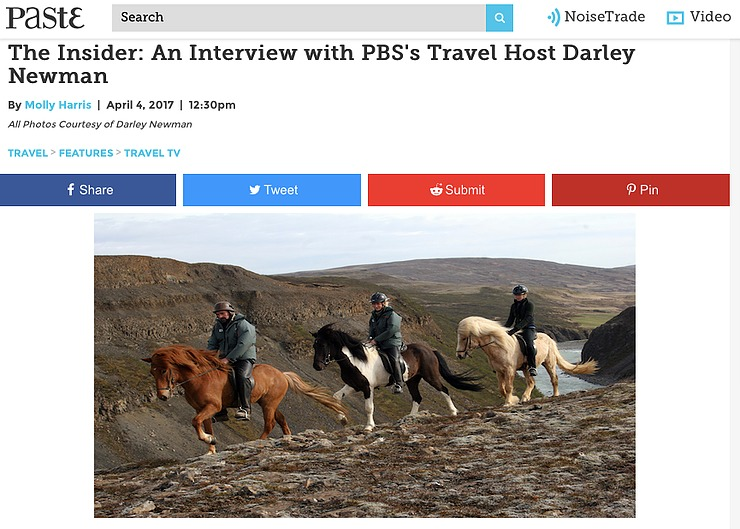 "Molly Harris interviews Darley for ""The Insider's"" column, Paste Magazine"