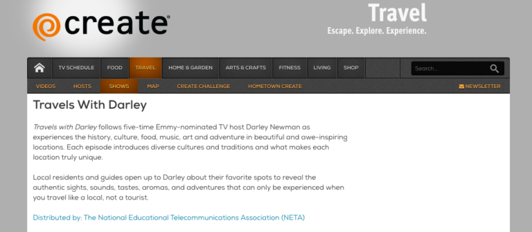 Travels with Darley Debuts on Create™ TV