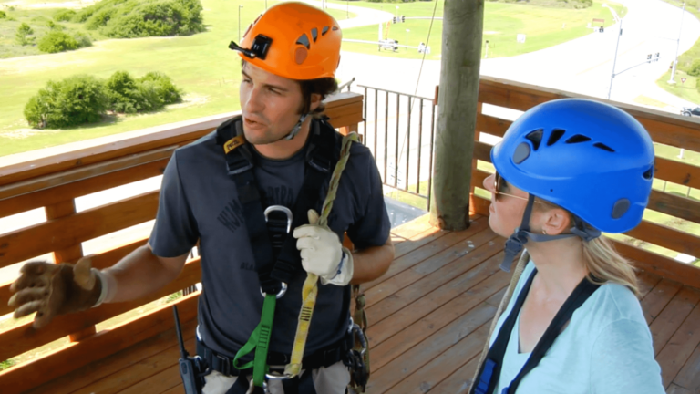 Zip from up to 90 feet high in Gulf State Park