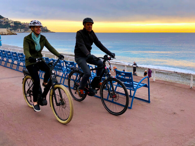 E-biking through Nice for Travels with Darley Newman