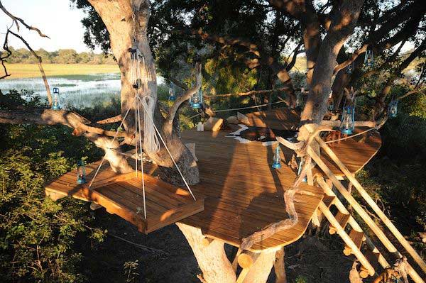 Botswana treehouse Okavango Delta