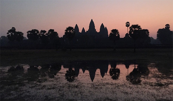 Sunset in Ankor Wat, Cambodia - Travels with Darley