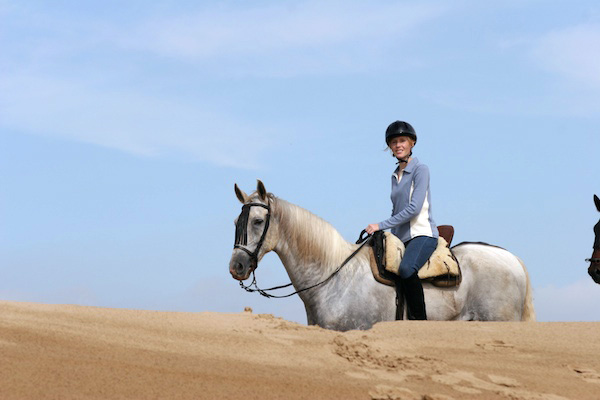 Darley riding in Donana National Park in Spain