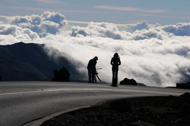 Filming Travels with Darley at Haleakalā in Maui, Hawaii