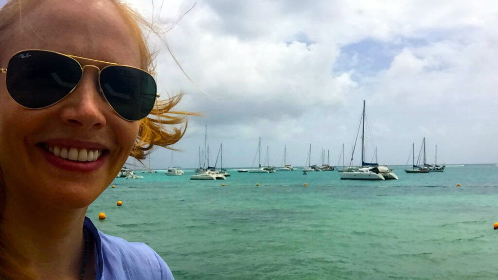 Saint Francois boat views in the Guadeloupe Islands