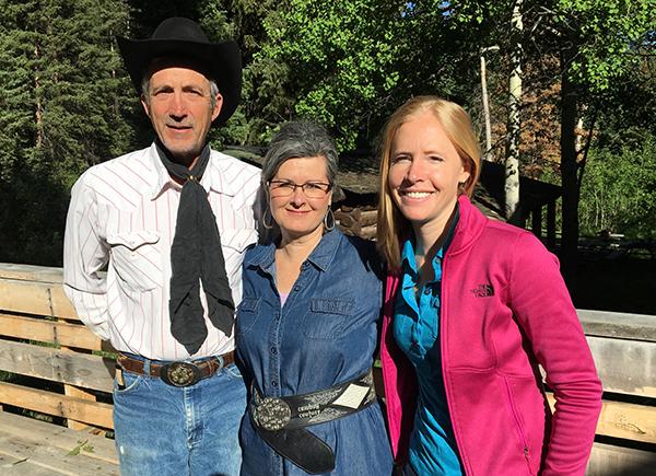 Tim and Debbie Bishop at family-run Medicine Bow Lodge