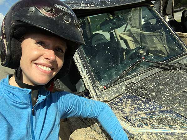 Darley goes off roading on ATVs at Snowshoe Mountain Resort
