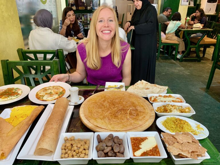 Darley exploring cuisine in Qatar