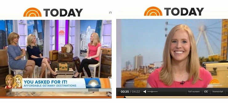 Darley on The Today Show