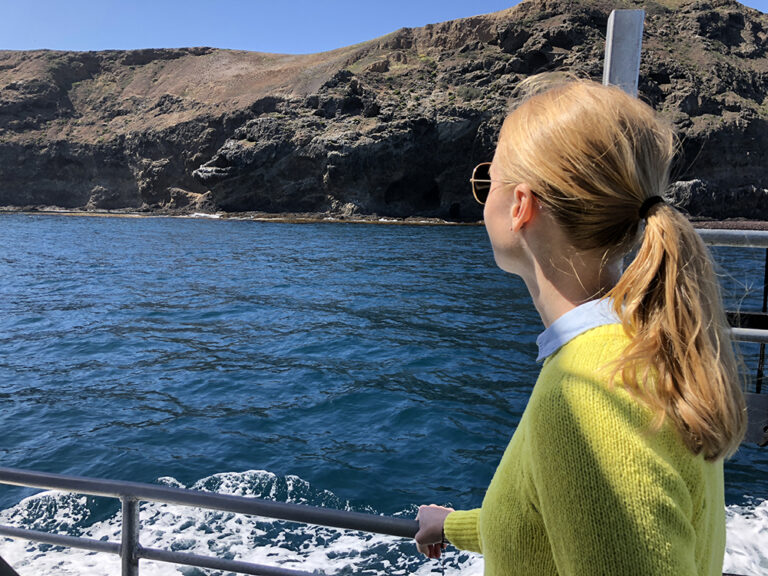 Darley Newman on a Channel Islands National park boat tour