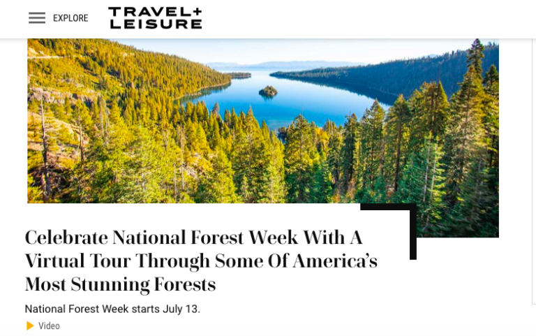 Travel + Leisure National Forest Week with Darley Newman