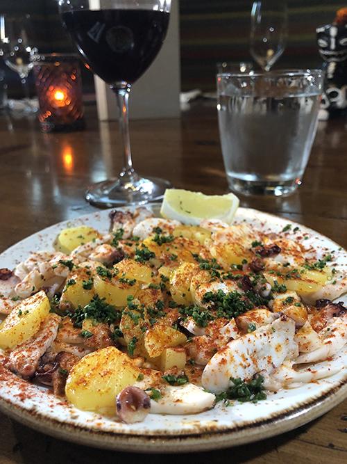 Food at Vaca Restaurant in Costa Mesa
