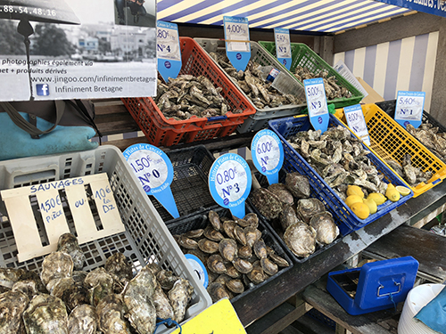 A medley of oyster in Cancale France for Darley Vacations