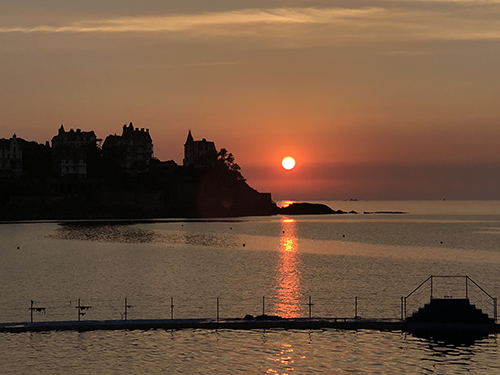 Sunset in Dinard