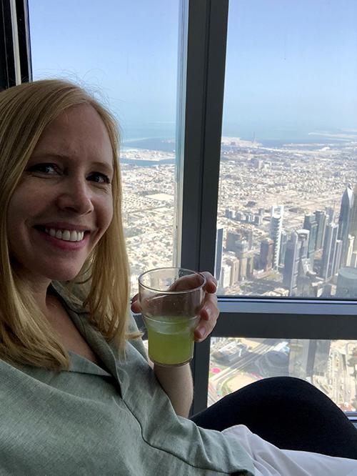 Dubai views from Burj Khalifa with Darley Newman