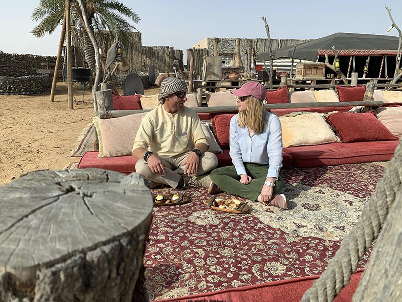Dubai desert lunch Darley Newman tours
