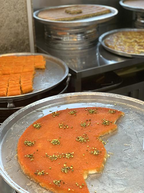 Dubai food tour kanafeh Travels with Darley