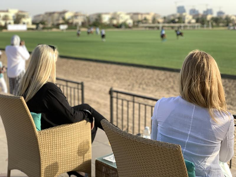 Watching polo in Dubai