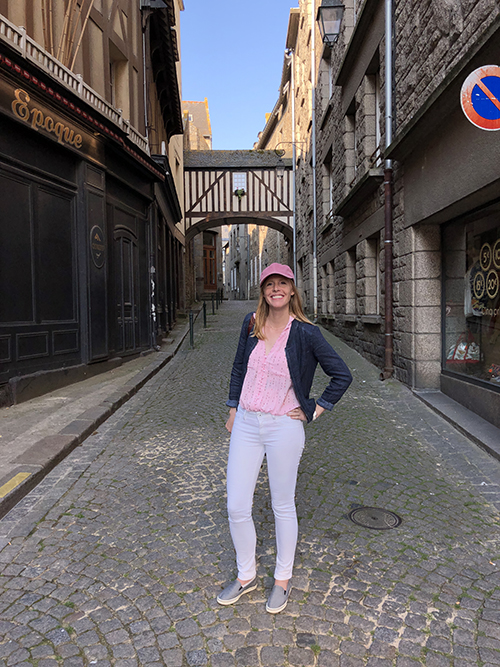 Darley Newman in Medieval Saint Malo in France