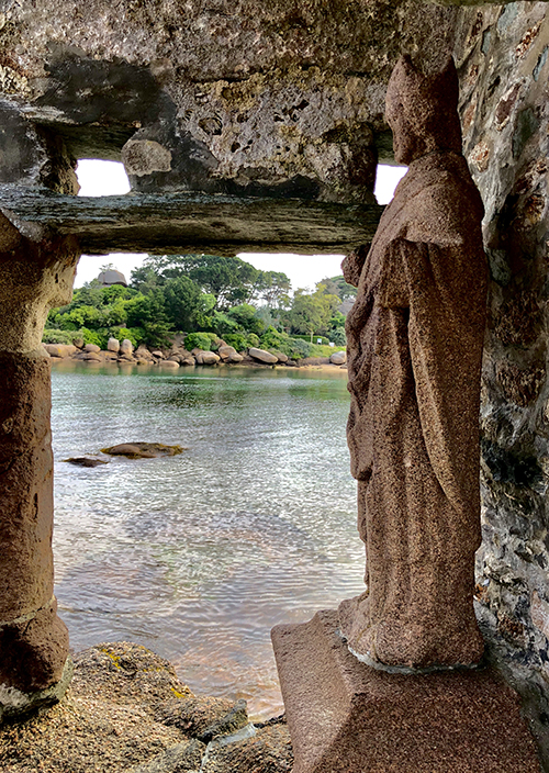 Perros Guirec ancient shrine France