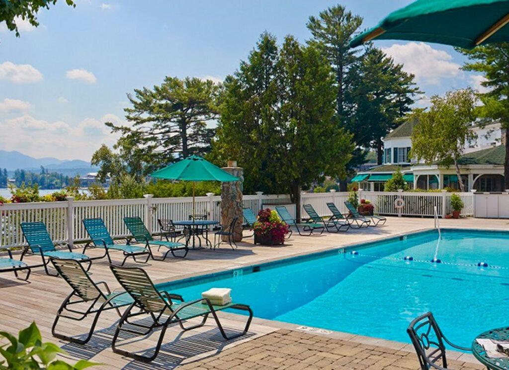 Adirondacks resort outdoor pool