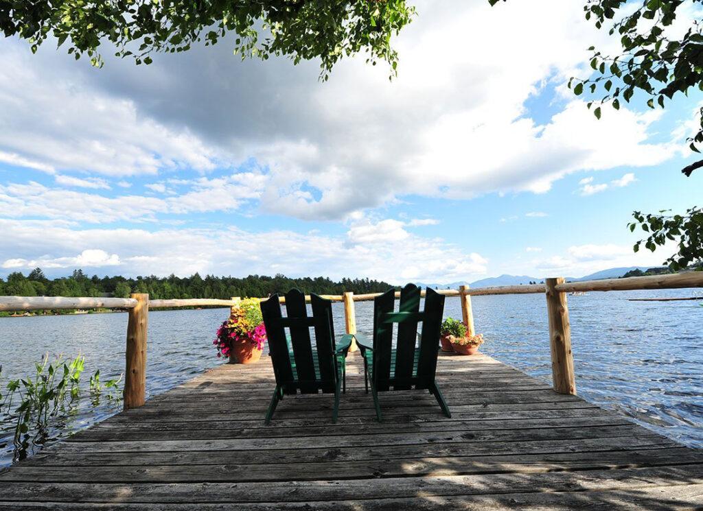 Adirondacks Mountains lakeside inn