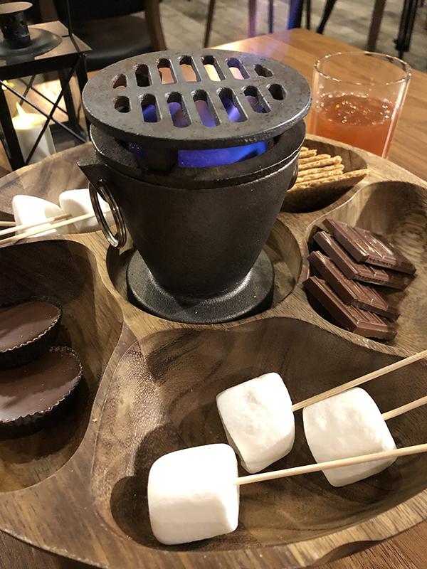 S'mores Campfire Restaurant Adirondacks