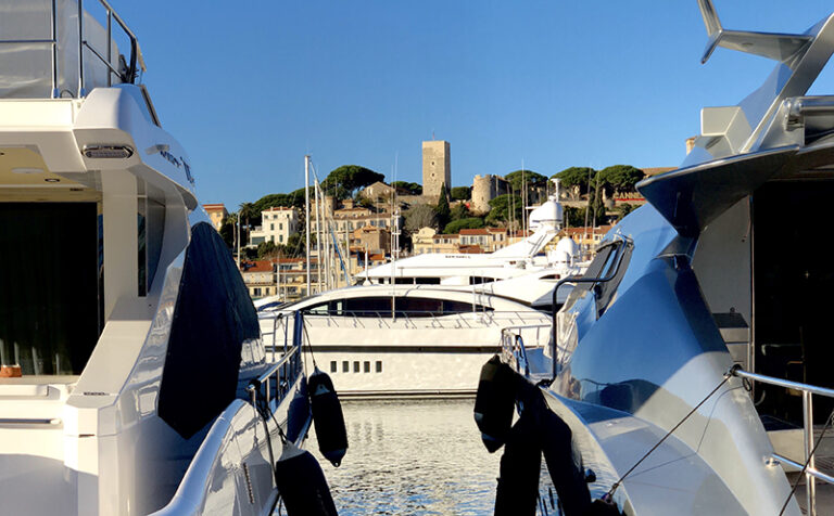 Cannes yachts in France
