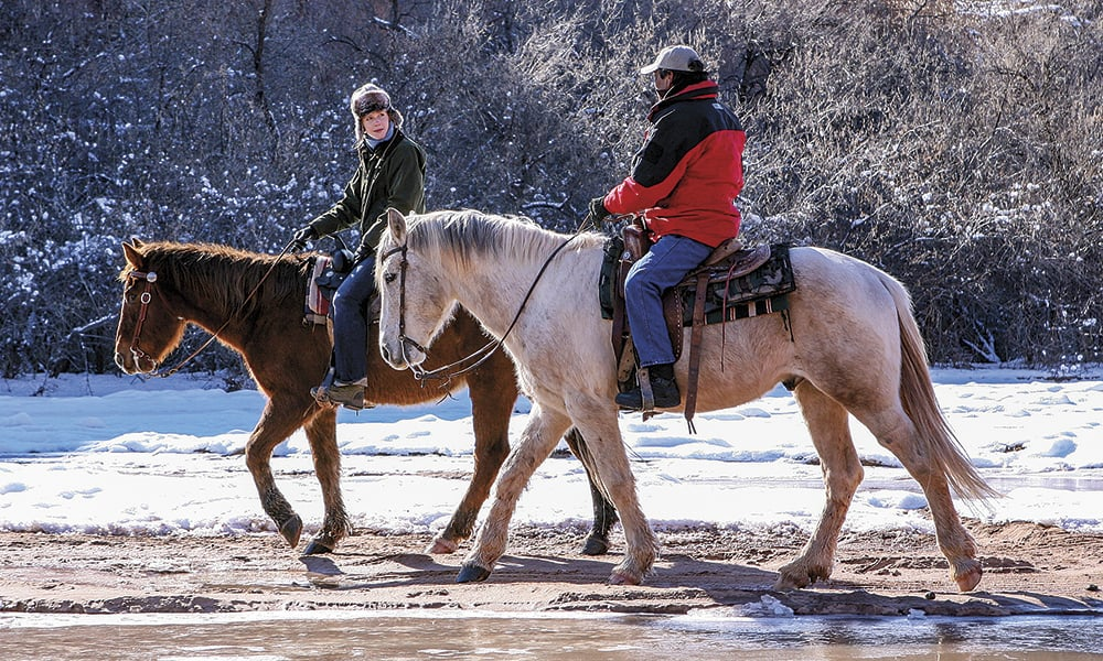 Riding with Lee Bigwater in Canyon de Chelly