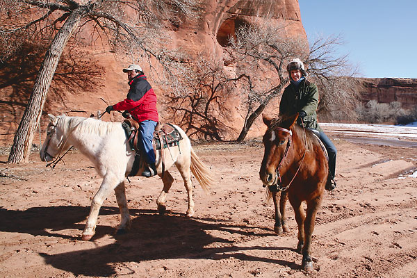 Riding horses with the Navajo in Canyon de Chelly Arizona