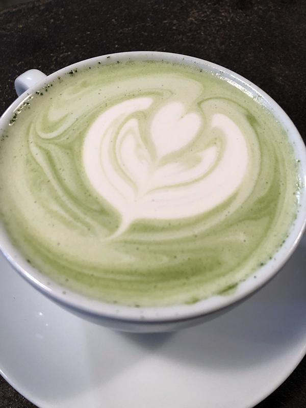 Saranac Lake green tea latte