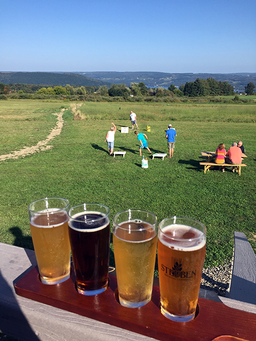Beer and games at Steuben Brewing Company on the Finger Lakes Beer Trail