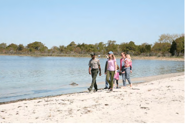 """Secret Beach"" on the Life of the Marsh Trail on Assateague Island"