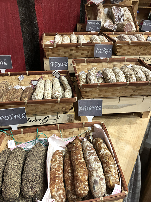 Sausages in Eguisheim in Alsace France
