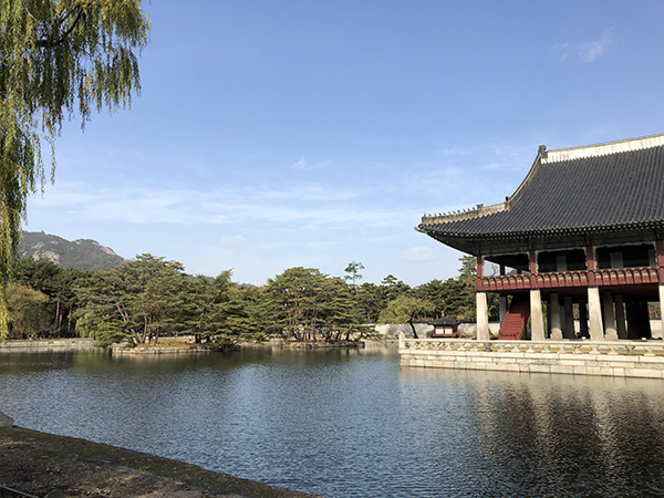 Serenity in the gardens of Gyeongbokgung Palace in Seoul