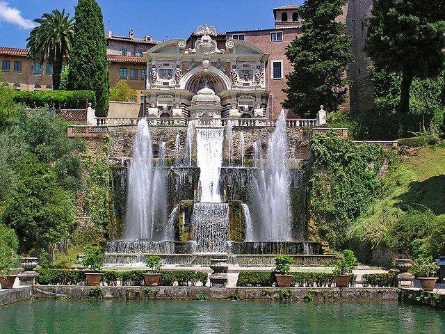 Villa D'Este in Rome, Italy