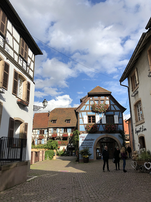 Eguisheim colorful architecture in France