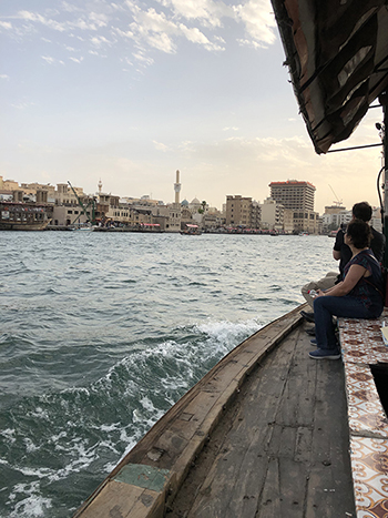 Dubai travels by abra, a traditional wooden boat